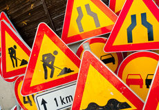 Roadwork signs Royalty Free Stock Photos