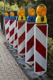 Roadwork signs Stock Images