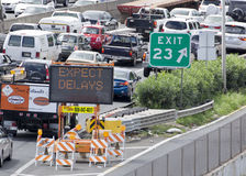 Roadwork traffic delay Stock Photography
