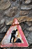 roadworks Royaltyfria Bilder