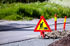 Roadworks stock photo