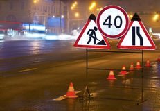 Roadworks Royalty Free Stock Image
