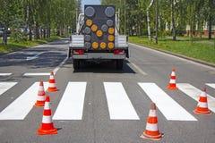 roadworks στοκ εικόνα με δικαίωμα ελεύθερης χρήσης