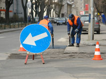 Roadworks Royalty Free Stock Photography