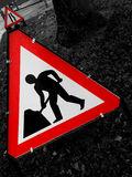 Roadworks. Abstract Creative red Roadworks Sign Royalty Free Stock Images