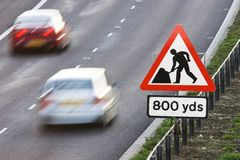 Roadworks Ahead Stock Photography