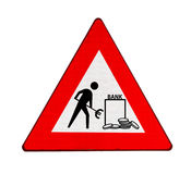 Roadworks at banks in the euro zone Royalty Free Stock Photography
