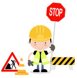Roadworks Guy Stock Photos