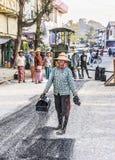 Roadworks in Myanmar Royalty Free Stock Image