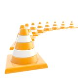 Roadworks orange cone composition as background Royalty Free Stock Photos