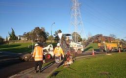 Roadworks pracownicy budowlani Zdjęcie Stock