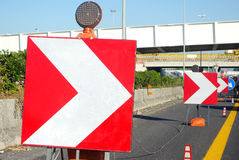 Roadworks in Progress Royalty Free Stock Photos