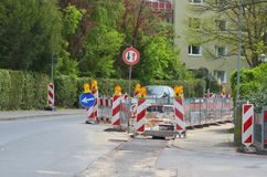 Roadworks in residential area Stock Photography