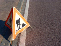 Roadworks sign Stock Photos