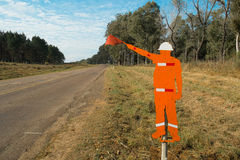 Roadworks sign Royalty Free Stock Image