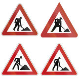 Roadworks Signs In Germany Royalty Free Stock Images