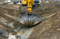 Roadworks to the highways, Netherlands Stock Photography