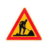 Roadworks, under construction, men at works Royalty Free Stock Photos