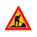 Roadworks under konstruktion, män på arbeten Royaltyfria Foton
