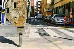 Roadworks w ulicie miasto Obraz Stock