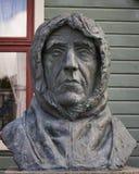 Roald Amundsen, um monumento em Tromso, Noruega Fotografia de Stock