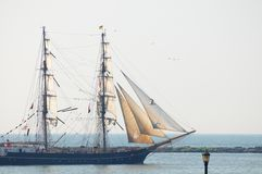 Roald Amundsen under sail Stock Photography
