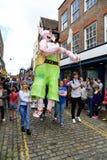 Roald Dahl Carnival, Aylesbury, Buckinghamshire. Roald Dahl Carnival parade, Aylesbury, Buckinghamshire Stock Image