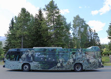 The Roam Banff local service in Banff National Park Royalty Free Stock Photo
