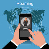 Roaming concept, vector illustration Stock Images