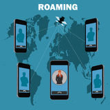 Roaming concept, vector illustration Stock Image