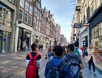 In the streets of Amsterdam royalty free stock photos