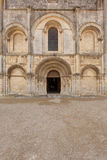 Roamnesque facade. General view of beautiful romanesque facade in Saintes Framce .Abbey aux Dames Royalty Free Stock Images