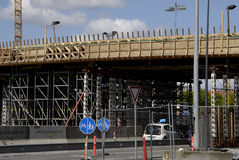 ROAN CONSTRUCTION. COPENHAGEN/DENMARK. 02 May 2015 _New motory or high way constructon work at Lyngybyvej at ryparken area               (Photo by Francis Joseph Royalty Free Stock Image