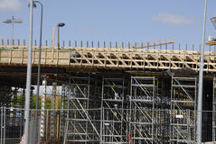 ROAN CONSTRUCTION. COPENHAGEN/DENMARK. 02 May 2015 _New motory or high way constructon work at Lyngybyvej at ryparken area               (Photo by Francis Joseph Royalty Free Stock Photography