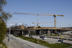 ROAN CONSTRUCTION. COPENHAGEN/DENMARK. 02 May 2015 _New motory or high way constructon work at Lyngybyvej at ryparken area               (Photo by Francis Joseph Stock Images