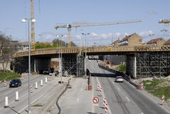 ROAN CONSTRUCTION. COPENHAGEN/DENMARK. 02 May 2015 _New motory or high way constructon work at Lyngybyvej at ryparken area               (Photo by Francis Joseph Stock Photos