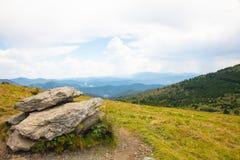 Roan Highlands Landscape com montanhas imagens de stock