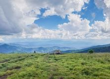 Roan Mountain Scenic Background View Tennessee Royalty-vrije Stock Foto