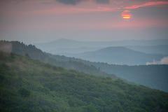 Roan Mountain Sunset Fotografering för Bildbyråer