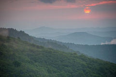 Roan Mountain Sunset. Sunset at Roan Mountain along the Appalachian trail in the Great Smoky Mountains National Park stock image