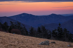 Roan Mountain Winter Hike 3 Stock Images