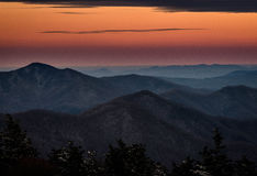 Roan Mountain Winter Hike 10 Stock Image