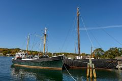 Roann vessel at Mystic Seaport Stock Images