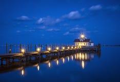 Roanoke bagien latarni morskiej Manteo NC Zewnętrzni banki Pólnocna Karolina Zdjęcie Royalty Free