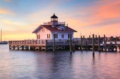 Roanoke bagien latarnia morska Manteo Pólnocna Karolina fotografia stock