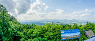 Roanoke City as seen from Mill Mountain Star at dusk in Virginia Stock Image