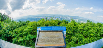 Roanoke City as seen from Mill Mountain Star at dusk in Virginia Royalty Free Stock Photography