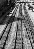 Roanoke City Railyard. A black and white image of Roanoke City Railyard Royalty Free Stock Photography