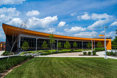 Roanoke County Library – Vinton, Virginia, USA. Vinton, VA – July 2nd: Roanoke County's newest library located in beautiful downtown Vinton, VA, USA on the Royalty Free Stock Image
