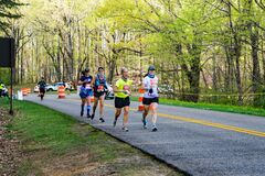 Running in the 2021 Blue Ridge Marathon